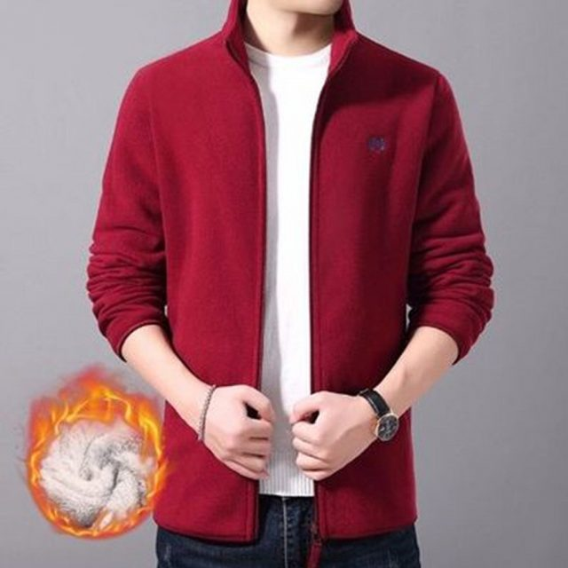 winter coat men warm Truly High quality Men's Sweater Autumn Winter Casual Korean Version of The Trend Plus Velvet Sports Coat#4