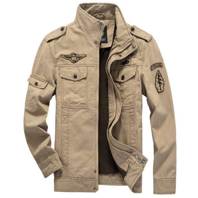 2019 Military Jacket Men Jeans Casual Cotton Coat Plus Size 6XL Army Bomber Tactical Flight Jacket Autumn Winter Cargo Jackets