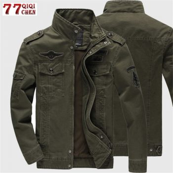 2019 Military Jacket Men Jeans Casual Cotton Coat Plus Size 6XL Army Bomber Tactical Flight Jacket Autumn Winter Cargo Jackets