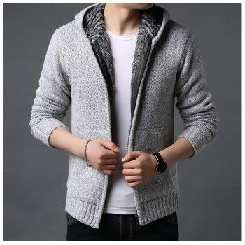 2020 Men's cashmere jackets spring Autumn Winter jacket coat men Streetwear Hooded mens coats knitted Sweater jackets M-3XL