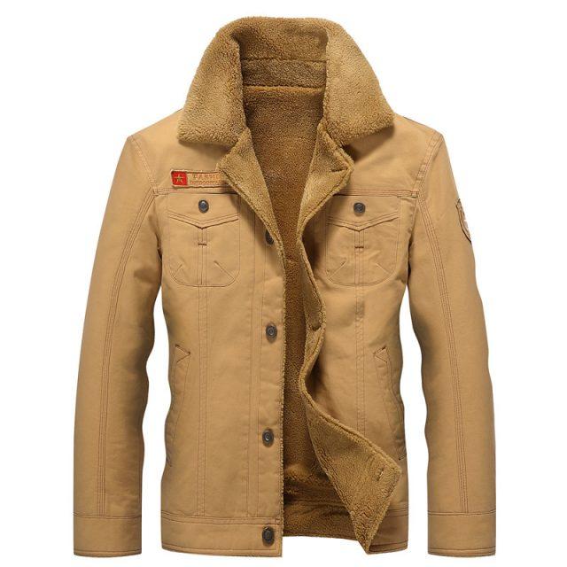 2019 Winter Bomber Jacket Men Air Force Pilot MA1 Jacket Warm Male fur collar Mens Army Tactical Fleece Jackets Drop Shipping