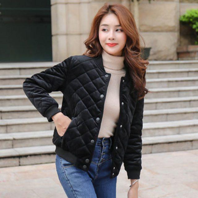 New Autumn Winter Warm Thick Short Coats Women Jackets New Fashion Casual Down Cotton Parka Female Outerwear Coats PDD016