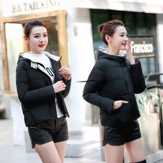 Winter Women Coat Parkas Solid Hooded Jacket Casual New Zipper Plus Size Loose Thick Outerwear Long Sleeve coat PDD018