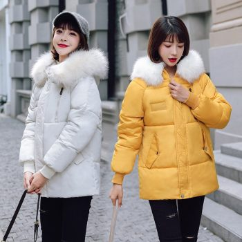 Big Fur New Parkas Female Women Winter Coat Thick Cotton Winter Jacket Womens Outwear Parkas for Women Winter Down Jacket