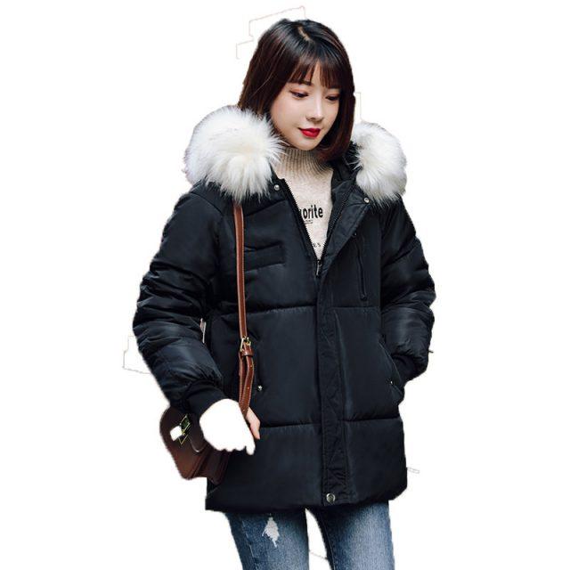 Big Fur New Parkas Female Women Winter Coat Thick Cotton Winter Jacket Womens Outwear Parkas for Women Winter Down Jacket