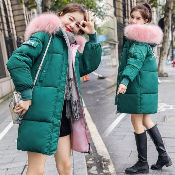 Women Jacket Parkas Fashion Solid Zipper Winter Female Jacket Coat Plus Size Warm Cotton Winter Basic Jacket Women Parkas