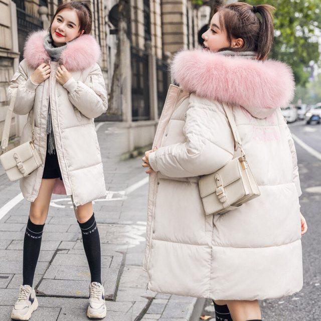 Women Jacket Parkas Fashion Solid Zipper Winter Female Jacket Coat Plus Size Warm Cotton Winter Basic Jacket Women Parkas
