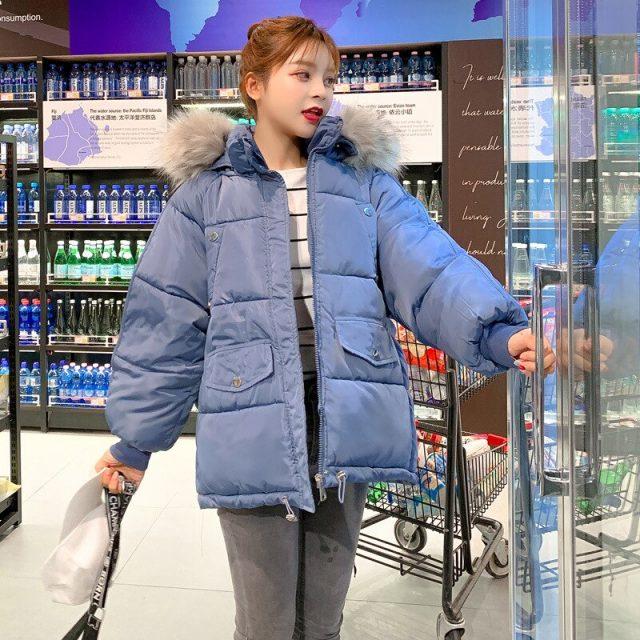 Winter Jacket Women Fur Hood Winter X-Long Both Side Wear Parka Coat Thick Double Warm Big Fur Collar Hooded Parka Jacket