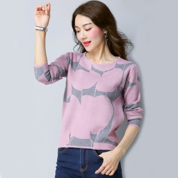 New Women Sweaters Plus Size Knitted Pullovers Sweater Female Long Sleeve Winter Sweater for  Female Knit Bottom Tops SJC005