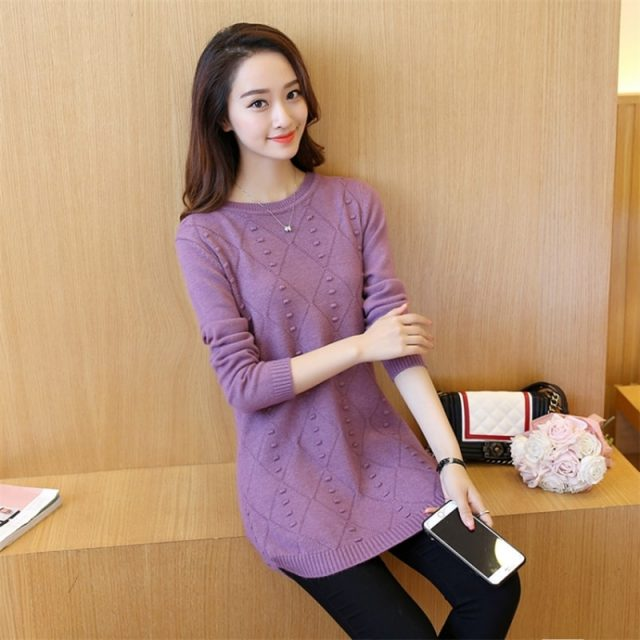 Winter Knitting Sweater Pullovers Women Long Sleeve Tops Turtleneck Knitted Sweater Chic Woman Clothes Female Streetwear BZY010