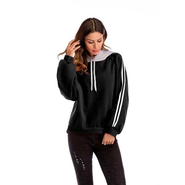 2019 Sweatshirt Oversized Hoodies Women Tracksuit Solid Harajuku Loose Long Sleeve Casual Tops Pullovers Plus Size S-2XL YWZ005