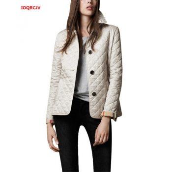 Women's Short Cotton Jacket 2019 Autumn Single-breasted Casual Thin Female Parkas Coats Ladies Outerwear Plus Size 5XL W1040