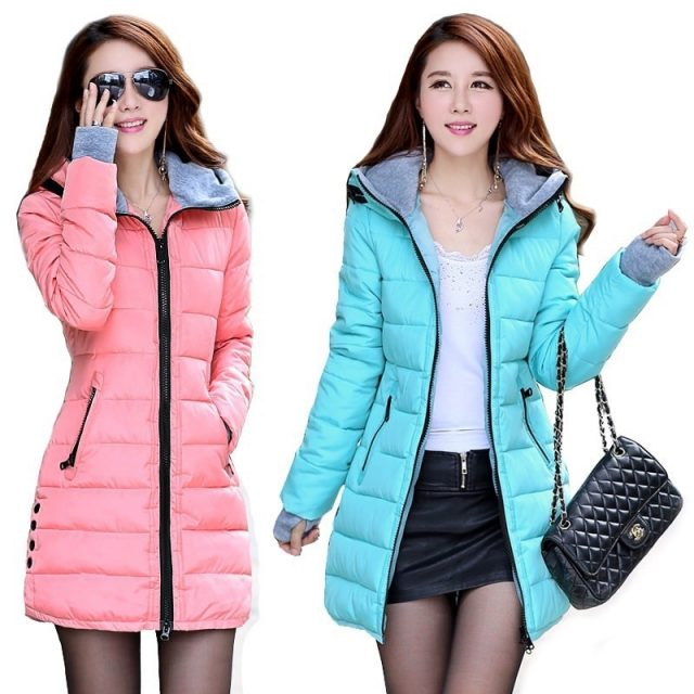 ZOGAA new women's long section thick fashion warm slim hooded down jacket jacket thick coat cotton casual jacket 11 colors S-4XL