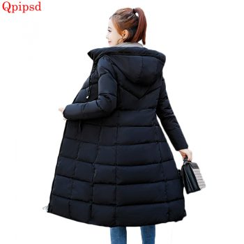 Plus size 6XL Down jackets 2019 Fashion Women Winter Coat Long Slim Thicken Warm Jacket Down Cotton Padded Jacket Outwear Parkas