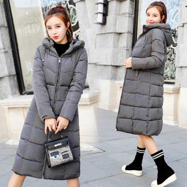 Plus size 6XL Down jackets 2019 Fashion Women Winter Coat Long Slim Thicken Warm Jacket Down Cotton Padded Jacket Outwear Parkas