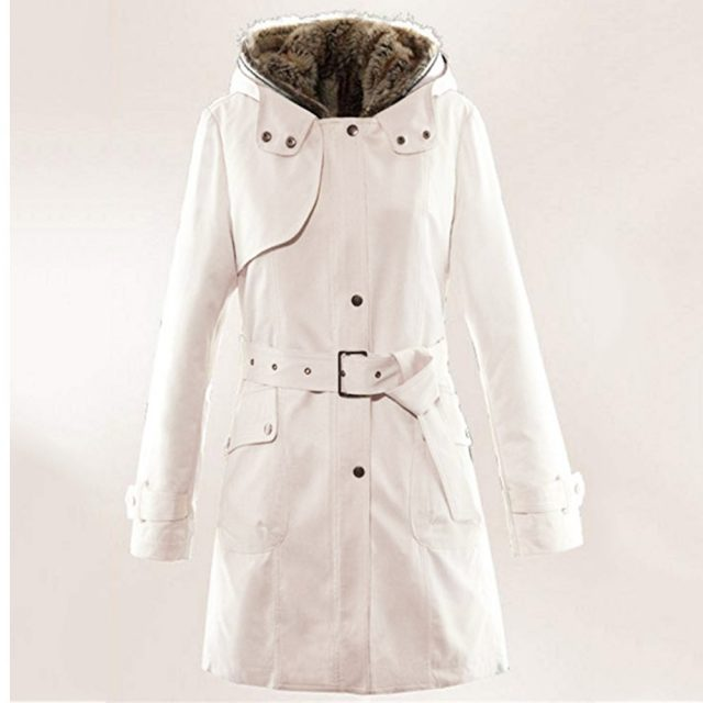 Ladies Fur Lining Coat Womens Winter Warm Thick Long Jacket Hooded Parkas Women Fur Coats Women's Winter Jackets And Coats