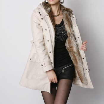 Ladies Fur Lining Coat Womens Winter Warm Thick Long Jacket Hooded Parkas Women Fur Coats Women's Winter Jackets And Coats