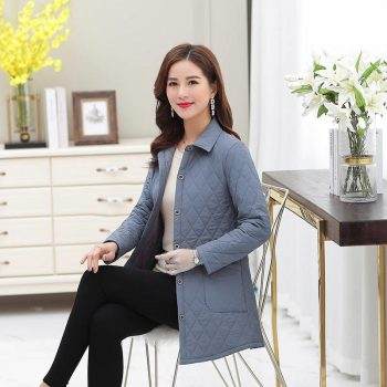 New middle age women cotton-padded tops mother Cotton coat thin quilted jacket autumn winter Warm Long-sleeved Jacket Parkas