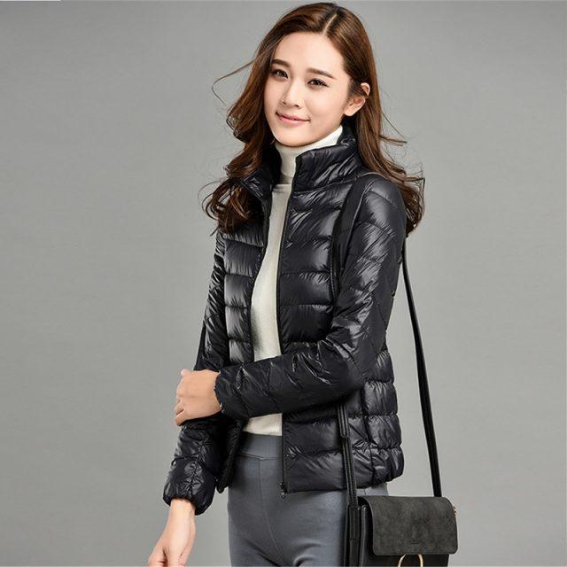 Plus size 4XL 5XL ultra light down Cotton jacket women 2019 Fashion streetwear baseball jacket winter casual Windproof outerwear