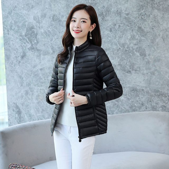 Mom's Plus size basic jackets Winter warm thicking puffer jacket women Casual slim waist ultra light jacket Outwear tops 4XL