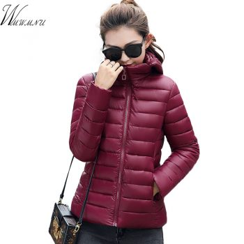 Wmwmnu Autumn Parkas Women Tops thin and Slim Coats Fashion Colorful Parkas down cotton Outwear Parkas Female Winter