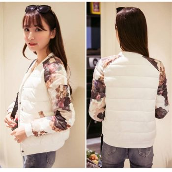 Fashion printed Wadded Jacket basic Padded Cotton baseball jacket outwear 2019 streetwear bomber jacket women chaqueta mujer