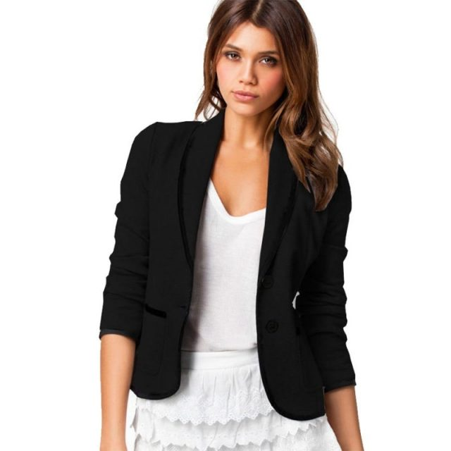 Blazer Woman Spring Short Blazer Women Slim Turn Down Collar Women Jacket Blazer Plus Size Women Blazers And Jackets Feminino