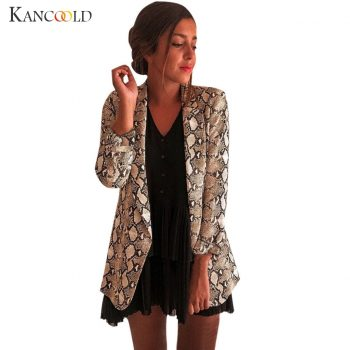 KANCOOLD Women's Casual Large Size Snake Print Suit Women's Blazer Jacket Suit Autumn 2019 High Quality