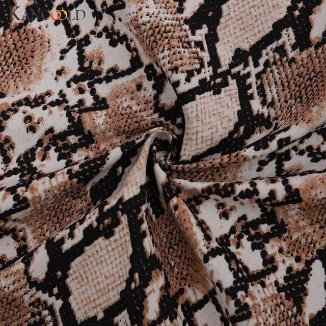 KANCOOLD Women's Casual Large Size Snake Print Suit Women's Blazer Jacket Suit Autumn 2019 High Quality
