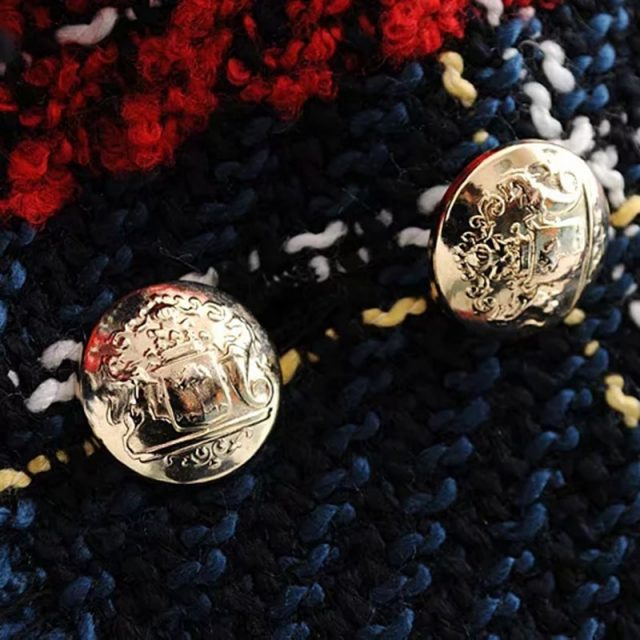 Red Plaid Blazer 2019 Women Spring-Autumn Vintage Tweed Suits Jackets Office Ladies Chic Slim Blazers Girls Tassel Tops Set Coat