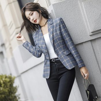 New Women Fashion Coat Women Long Section Harajuku Single Buckle Luxury Streetwear Clothes Leisure Slim Fit Women Jacket Blazers
