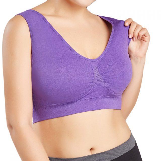 20#Women's Sexy Bra Women lingerie Pure Color Plus Size Ultra-thin Large Bra Popular Sports Bra Full Bras Cup Tops Bralette
