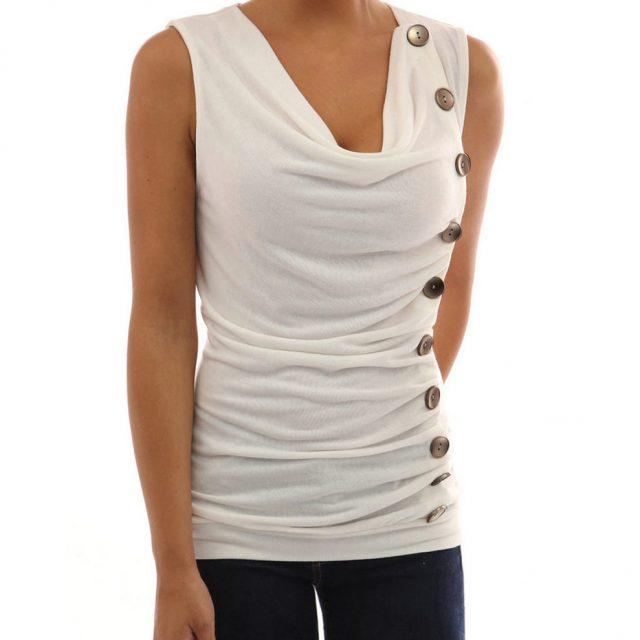 LONSY 2019 Fashion Women Sexy Sleeveless Dress Spring Summer Self Cultivation Short Sleeve