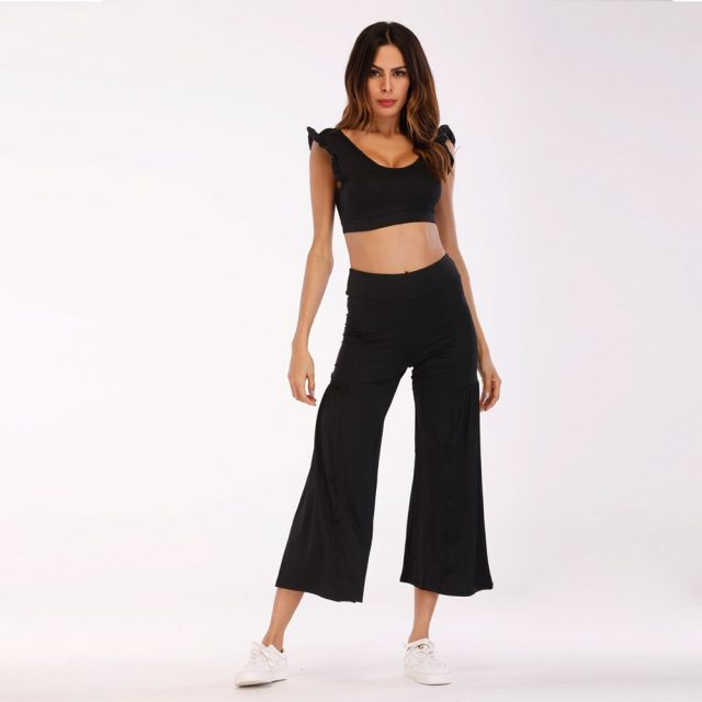 New Patchwork Decorative pattern Crop Tops Bikini Beachwear Women Girls Casual Lace Up Off Shoulder Bikini Bra Tank Top Cropped