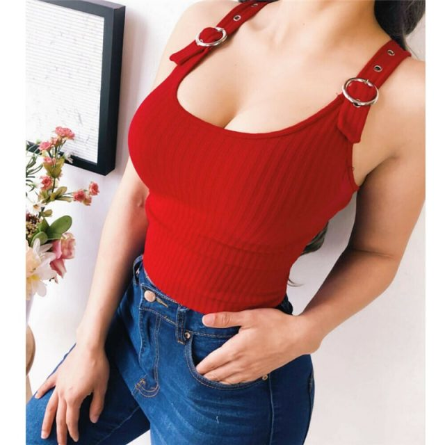1PC Women Knit Elastic Tube Tops Bra Blouse Strapless Bandeau Crop Top Shirt Fashion Women Buckle vest Red Black Yellow popular