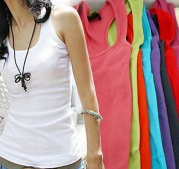 Spring Summer Tank Tops Women Sleeveless Round Neck Loose T Shirt Ladies Vest Singlets Camisole Cotton Slim Ladies Thin Vest