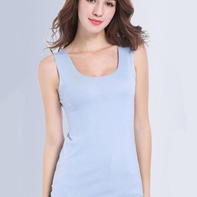 High Quality 2019 Summer Solid Seamless Women Tank Tops Vogue Soft Modal Vest Sleeveless Female White Tanks Plus Size 4XL TOPS