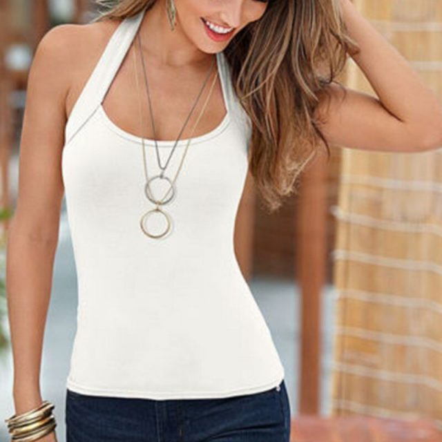 Fashion Women Vest Top Sleeveless Crop Top Casual Tank Tops Sexy T-Shirt