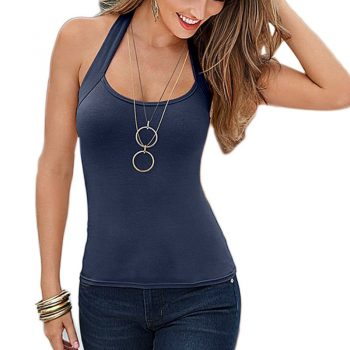 Fashion Women Vest Top Sleeveless Crop Top Casual Tank Tops Sexy T-Shirt