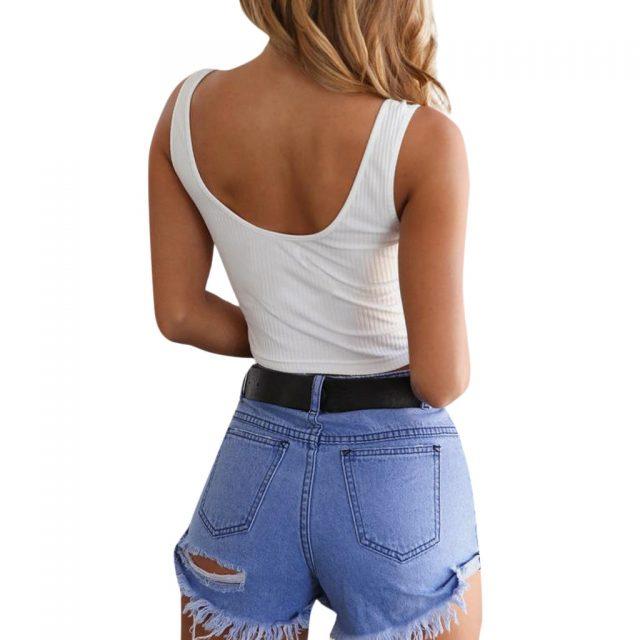 20# Fashion Women Tank Top Fashion Women Sexy Tank Top Vest Off Shoulder Halter Chalecos Mujer Crop Tops regata feminina