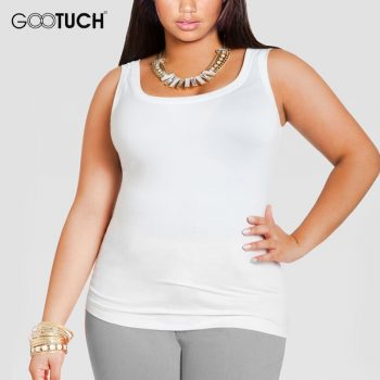 Womens Cotton Tank Tops Plus Size 4XL 5XL 6XL Women's Sleeveless T Shirt Large Size Undershirt Ladies Sexy White Singlet 049A