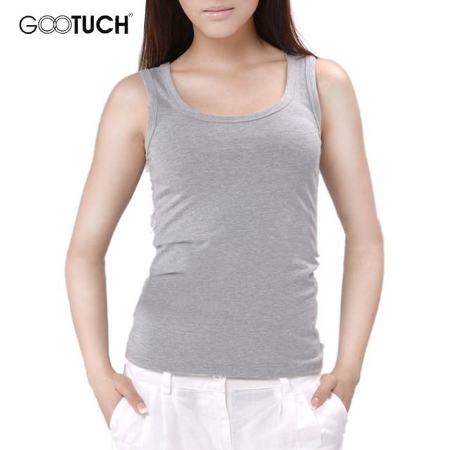 Womens Cotton Tank Tops Singlet Slim Bodyshaping U Neck Vest Plain White Plus Size Cotton Underwear Women 5XL 6XL Tanks 049