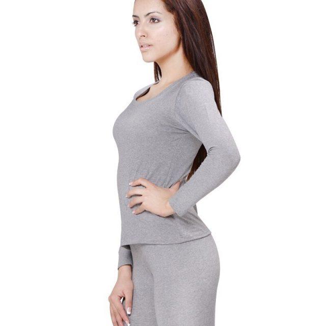 Women's Cotton Long Johns Set Winter Thermal Underwear 4XL 5XL 6XL Round-Neck Long Sleeve Ladies Body Shaping Pajama Set 2452