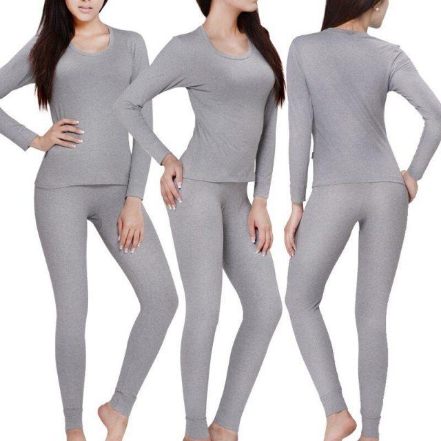 Winter Thermal Underwear Cotton Long Johns Set Womens Thermo Underwear Sets Female Warm Plus Size Soft Long Johns 5XL 6XL 8946