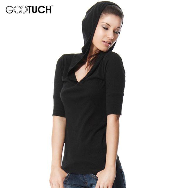 Fashion Womens Plus Size T-Shirt 4XL 5XL Hooded T Shirt V Neck Women Top Tees Ladies Shirt Ropa Mujer Hoodies Sweatshirt 2258