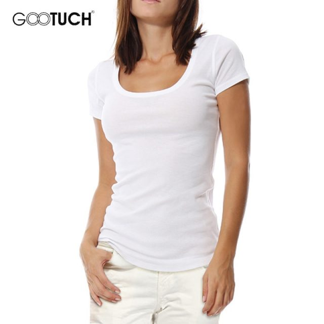 Womens Plus Size T Shirt 4XL 5XL 6XL Undershirt Round Neck Tops Cotton Short Sleeves T Shirts Woman Plain White Ladies Tee 2249