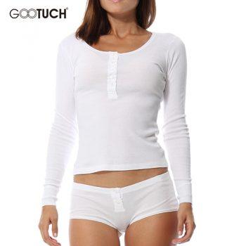 Cotton Pajama Set Long-Sleeved Plus Size Pijamas Undershirt & Panties Sets O-Neck Women's Sleepwear Lounge Underwear 6XL 2463