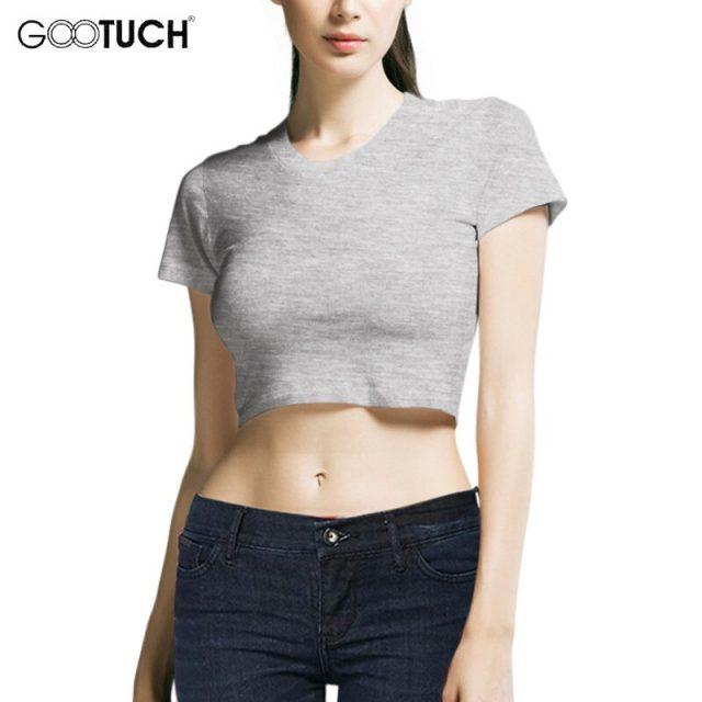 New Summer Womens Sexy Crop Tops White Short Cotton T Shirt High Waist Short Sleeves Girls' Basic Shirt Top Tees 5XL 6XL 5268