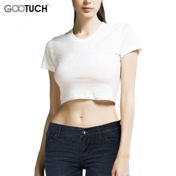New Summer Womens Sexy Crop Tops White Short Cotton T Shirt High Waist Short Sleeves Girls' Basic Shirt Top Tees 5XL 6XL 5268
