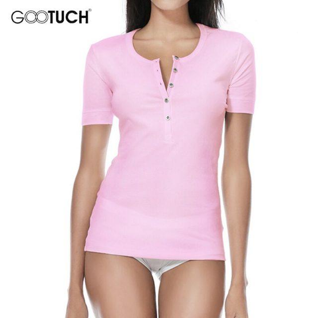 Womens Cotton T Shirt Base Shirt Button-down Neck Tops Trendy Women Tighten Cuff T Shirt 4XL 5XL 6XL Plain White Tee Shirts 2208
